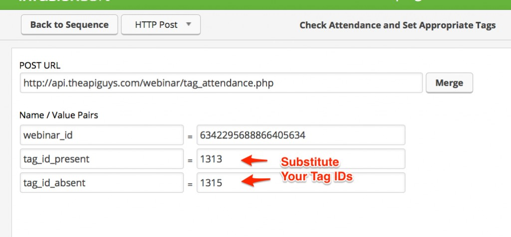 Set Attendance tags
