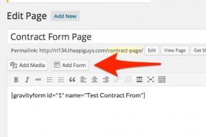 Add form to page